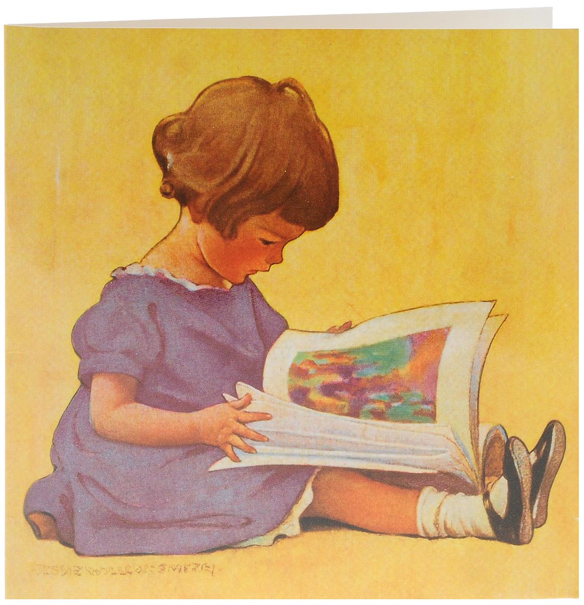 Открытка про чтение, днем ангела