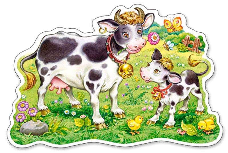 Картинки корова с теленком для детского сада, новому году