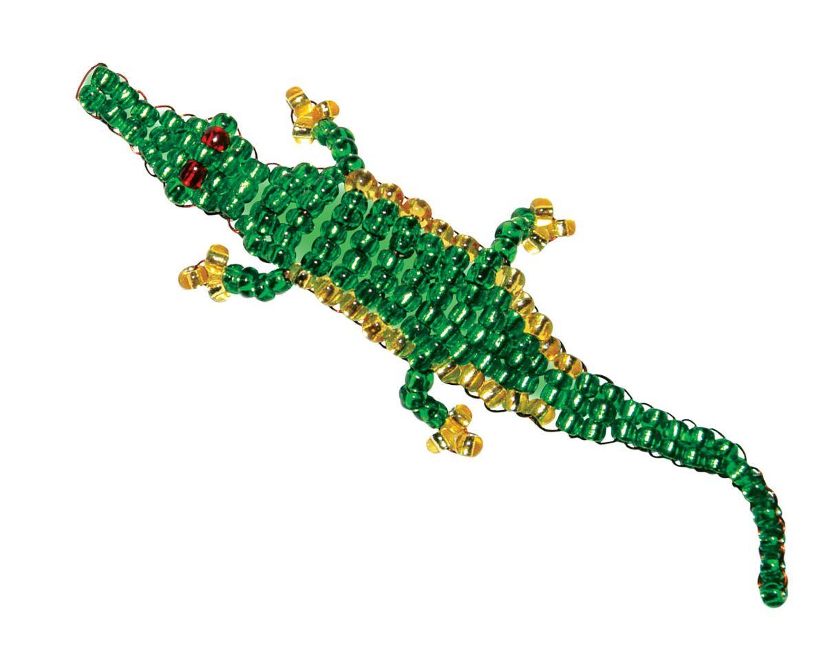 Схема крокодила из бисера фото